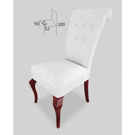 Eleganckie krzesło tapicerowane z guzikami STB63