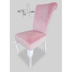 Stylowe krzesło do jadalni z kryształkami STB64