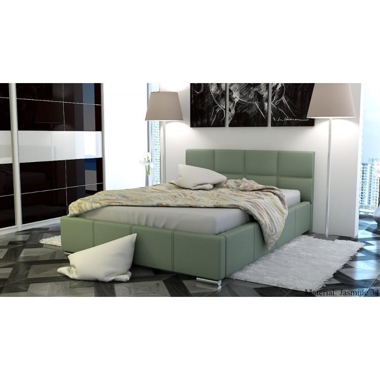 Tapicerowane łóżko do sypialni Mila AT3