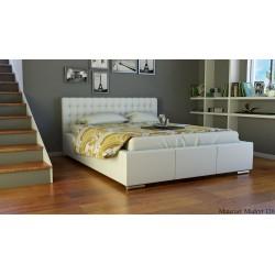 Łóżko tapicerowane z wezgłowiem do sypialni Mila AT4