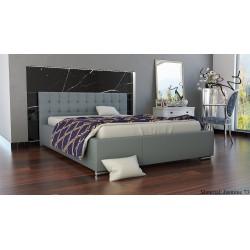 Mila AT5 łóżko do sypialni z tapicerowanym wezgłowiem