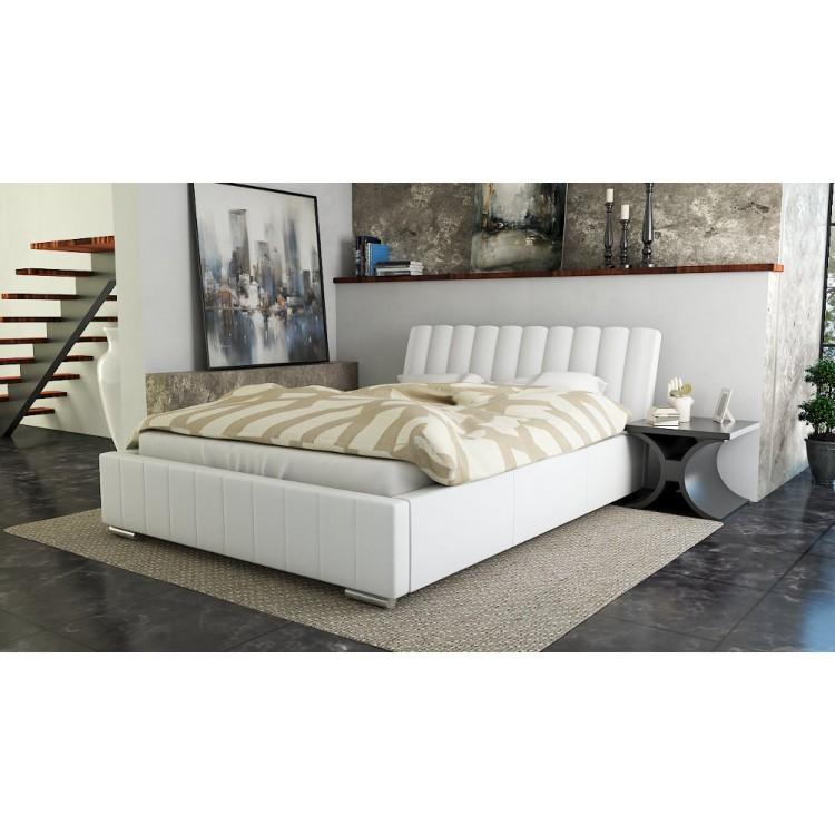 Mila AT9 łóżko tapicerowane z wezgłowiem do sypialni