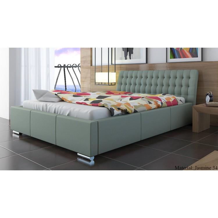 Mila AT10 tapicerowane łóżko sypialniane z zagłówkiem