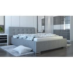 Mila AT14 tapicerowane łóżko z zagłówkiem do sypialni