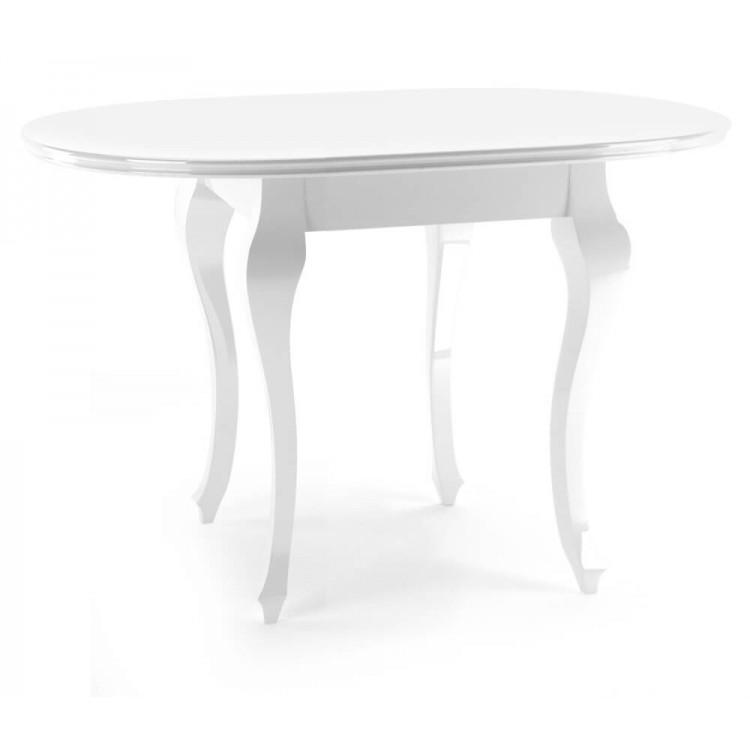 Stół Okrągły Biały Połysk Ludwik