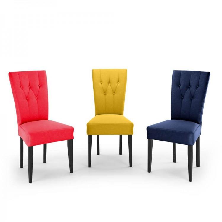 Krzesło tapicerowane STB67 z pikowanym oparciem