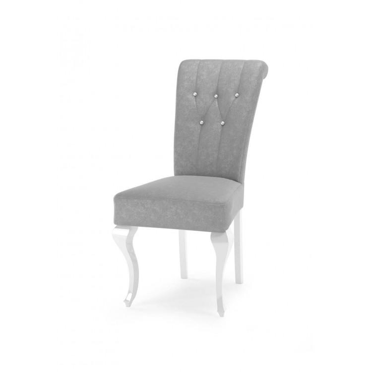 Krzesło tapicerowane STB62 z pikami na oparciu i kołatką