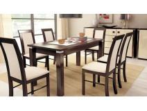 Zestaw stół Modena IV ALU krzesła Nilo VI