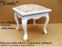 Taboret Louis - satynowy półmat