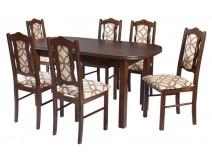 Stół owalny Wenus P3 krzesła Boss 6