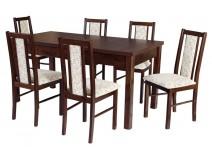 Stół prostokąt Modena 1 i krzesła BOSS 14