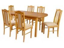 Stół owalny Wenus P3 krzesła Boss 2