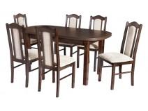 Stół owalny laminat Wenus P1 krzesła Boss 2