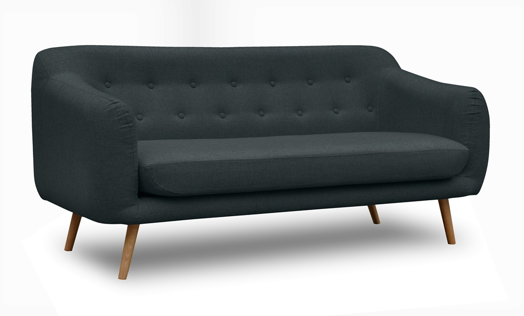 Sofa do salonu skandynawski styl w tkaninie INARI 100