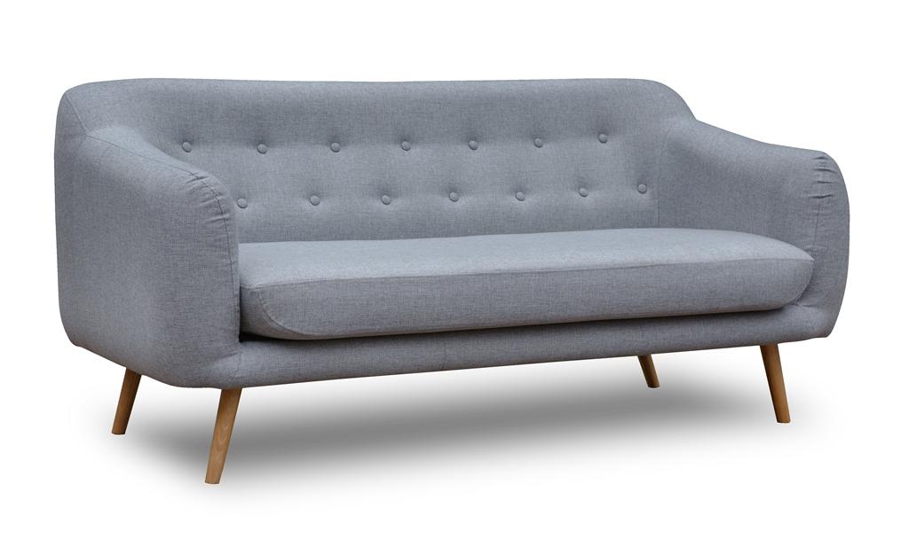 Pikowana sofa Elly w skandynawskim stylu, tkanina INARI 91