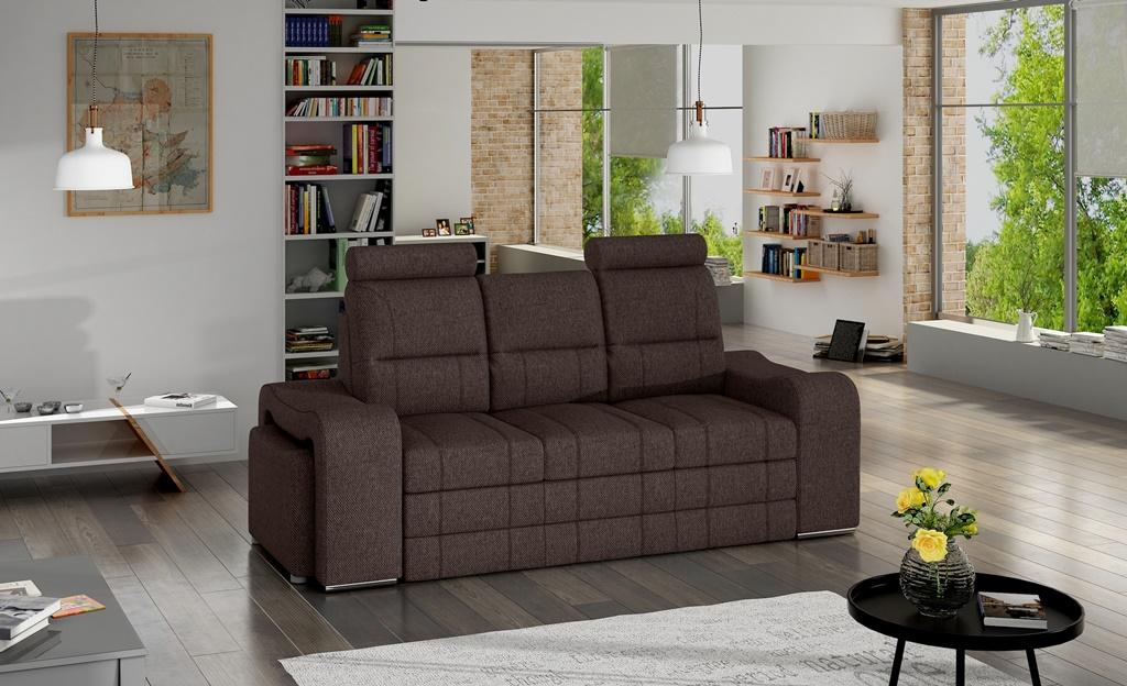 Sofa rozkładana z pojemnikiem na pościel Wines Tkanina INARI 27