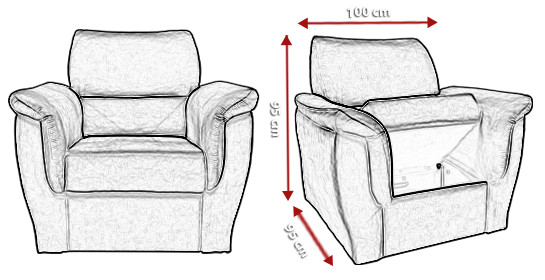Wymiary fotela Diore