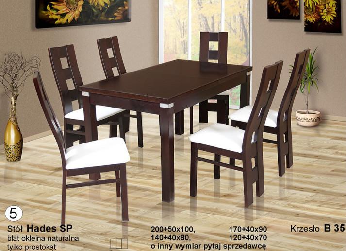 Komplet z nowoczesnymi krzesłami B35