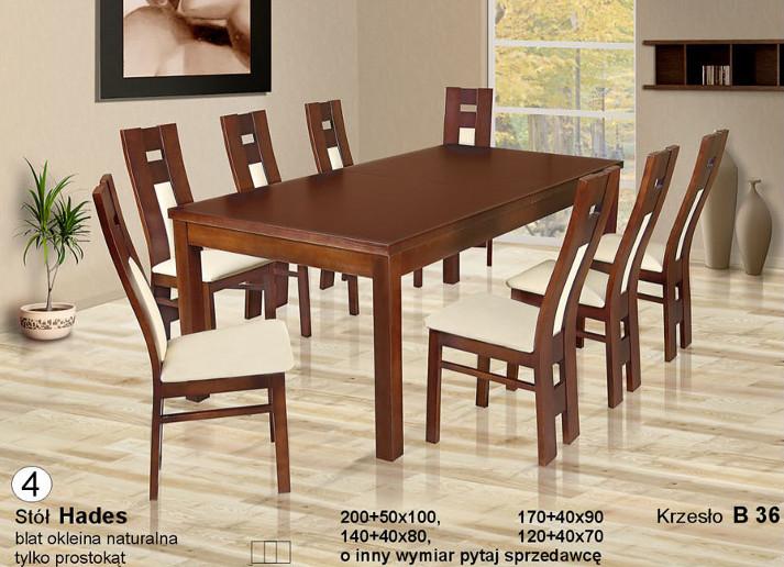 Komplet Hades nowoczesne krzesła B36