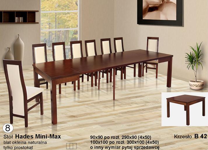 Komplet stół Hades Mini Max krzesła B42