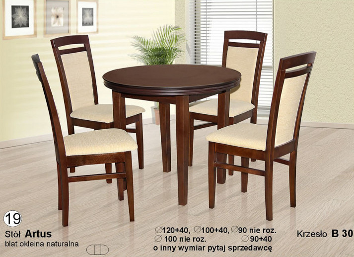 Komplet z krzesłami B30