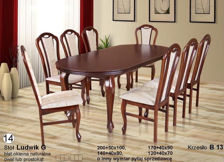 Komplet z krzesłami B13