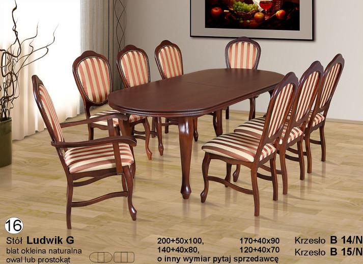 Komplet z krzesłami B14N