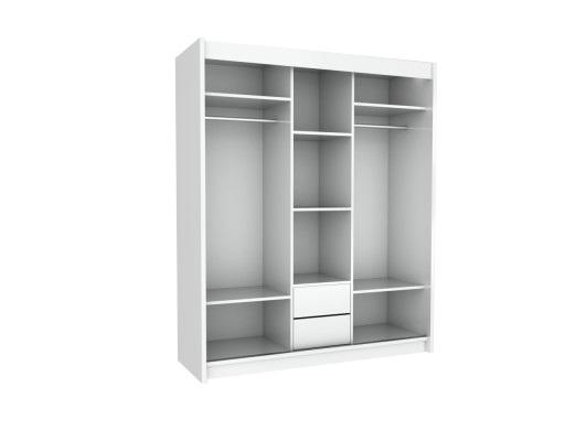 Wnętrze szafy 3 drzwiowej