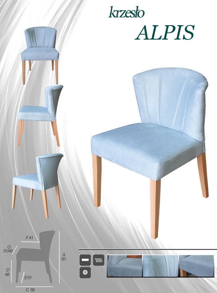 ALPIS kuchenne krzesło tapicerowane