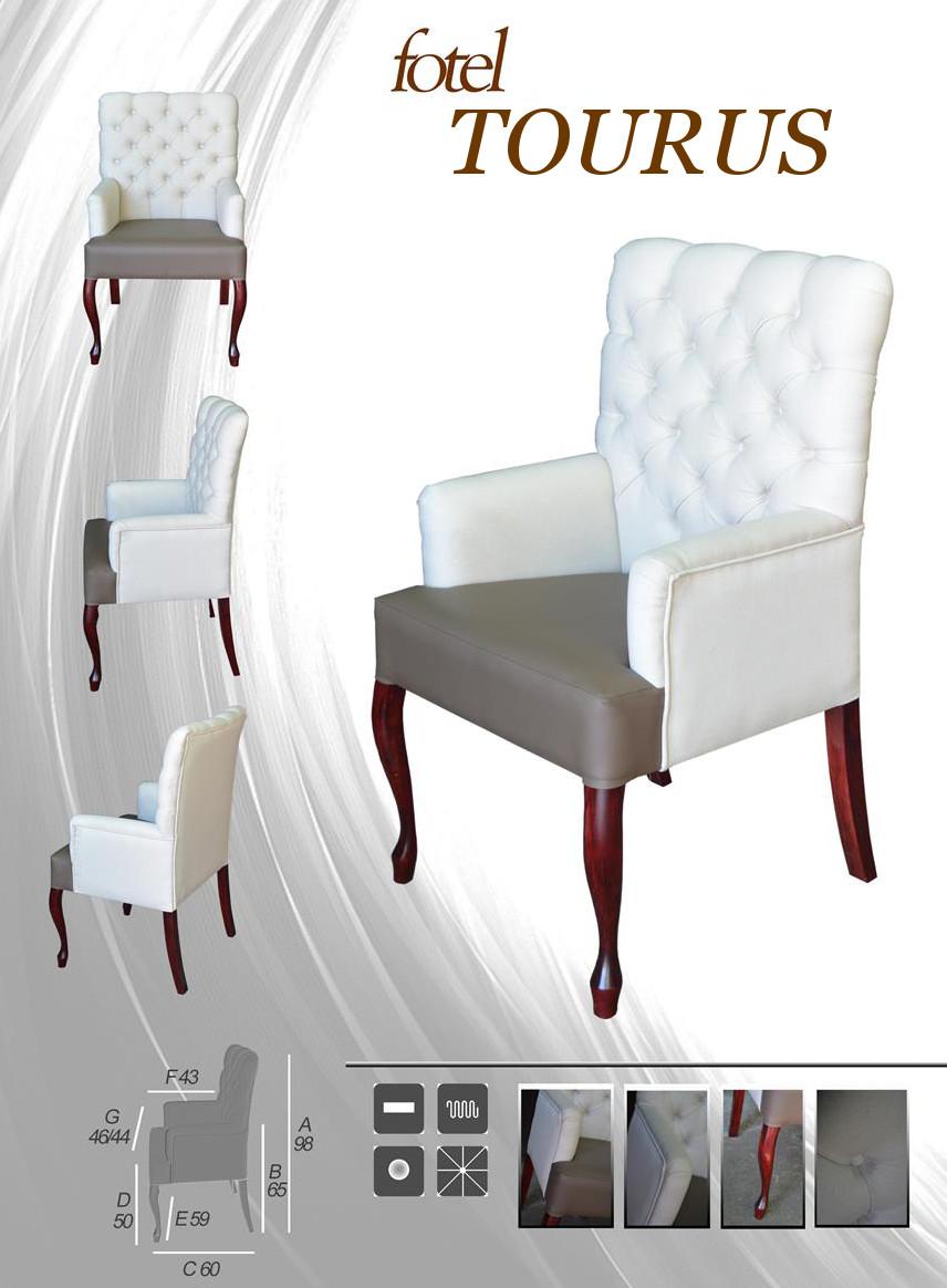 Fotel Chesterfield z podłokietnikami tapicerowany