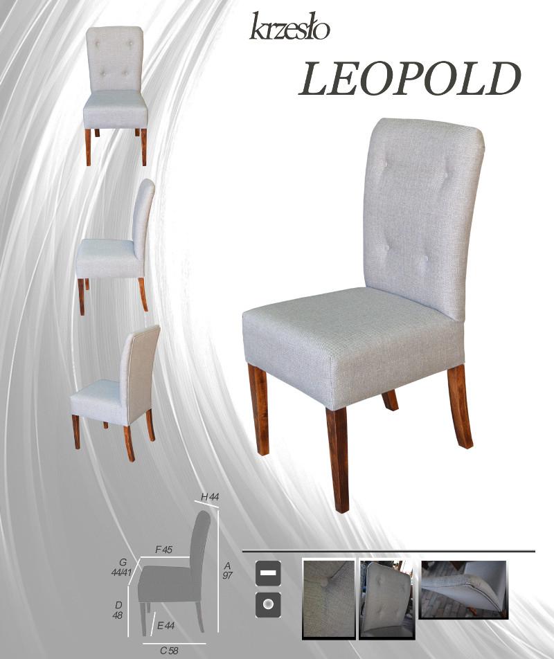 Tapicerowane krzesło do kuchni LEOPOLD