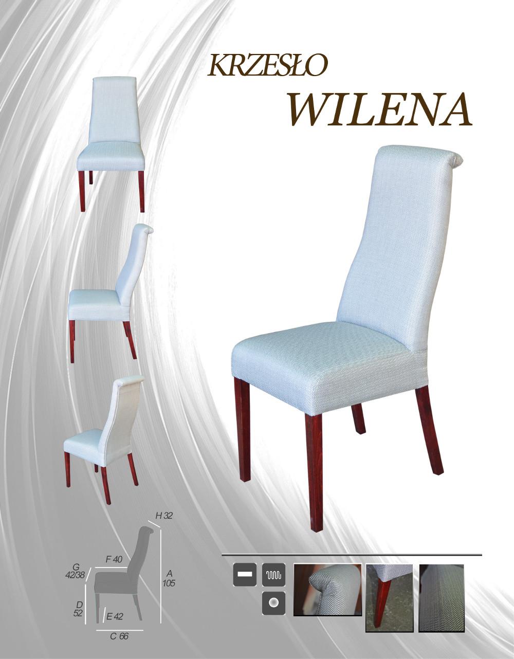Krzesło tapicerowane Wilena