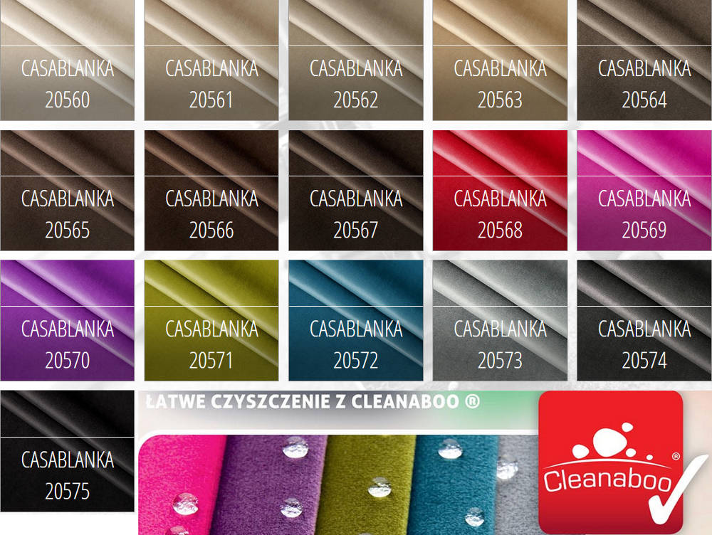 Tkanina gładka - łatwe czyszczenie Casablanca